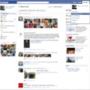 Click Account, then click Use Facebook as Page